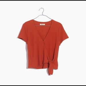 Madewell Texture and Thread wrap tie top S